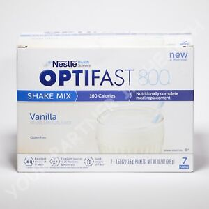 OPTIFAST 800 POWDER SHAKE | 6 BOXES | VANILLA | 42 SERVINGS | NEW AND FRESH