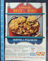 Lot Of 4 Vintage Magazine Ads - canned meat, Armour, Dinty Moore, Spam