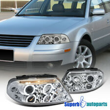 For 2001-2005 VW Passat Halo Led Projector Headlights Chrome/ Clear SpecD Tuning
