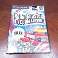 ROLLER COASTER TYCOON CLASSIC NEW SEALED - WIN/MAC CD-ROM