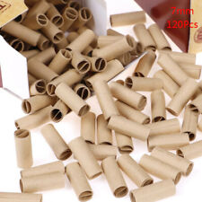 120x/box Pre rolled natural unrefined cigarette filter rolling paper tips j3