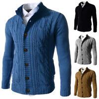 Winter Zipper Casual Sweater Pullover Mens Warm Knitwear Thicken Coat Sweatshirt