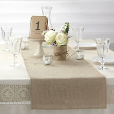 3 x Rustic Vintage Hessian Burlap Table Runner 2m