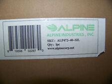 Alpine Ind 40 Gal Outdoor Decorative Trash Can Metal Black Silver Alp472-40-Sil