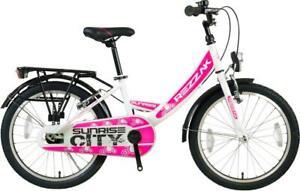20 Zoll Kinder Fahrrad Mädchen Fahrrad Rücktrittbremse RH 33 weiss Pink Neu -043