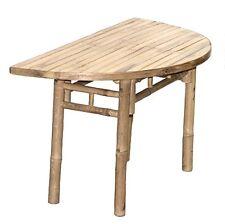 Bamboo 54 Half Moon KD Shaped Table 5868  New