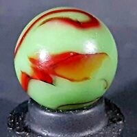 PELTIER GLASS CO DRAGON NLR WITH DRAGON HEAD VINTAGE MARBLE MINT- 9.3 CONDITION