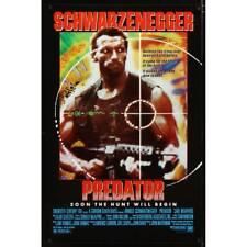 PREDATOR US Movie Poster  27x40 - 1987 - John MacTiernam, Arnold Schwarzenegger
