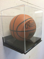 Basketball acrylic display case 85% UV filtering WALL MOUNT black base