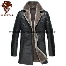 Lionstar Newage Top Qualité Hommes Cuir Véritable Extra Chaud Manteau D'hiver Avec Fourrure
