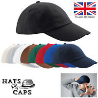 Low Profile Baseball Cap Heavy 100% Cotton  Drill Summer Sun Sports Hat
