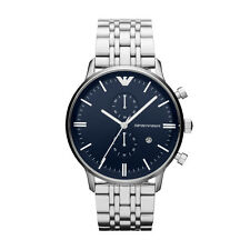 Emporio Armani Classic Men's Watch Navy Blue/Silver Quartz AR1648