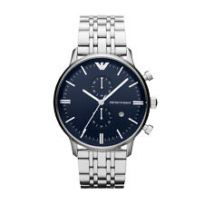 Emporio Armani Classic Men's Watch Dark Navy Blue/Silver Quartz AR1648