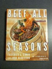1st Edition 1999 Beef for All Seasons Recipes Cookbook Omaha Steaks Hardcover