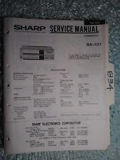 Sharp Sa-101 service manual original repair book stereo receiver radio tuner