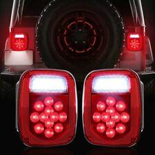 LED Tail Lights Stop Reverse Rear Brake Lamps Turn for Jeep Wrangler TJ CJ 76-06