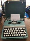 Vintage+Smith+Corona+Corsair+Deluxe+Typewriter+w%2FCase+Made+England+Aqua+Green%C2%A0