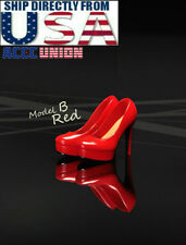 """1/6 High Heel Shoes RED For 12"""" TBLeague PHICEN Hot Toys Female Figure USA"""