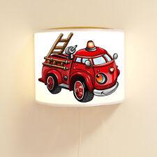 Wandlampe Kinderlampe Feuerwehrauto Lampe Leselampe Feuerwehr Löschfahrzeug ls88
