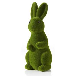 Green Flocked Bunny Rabbit Easter Decoration Display Garden Home Decor 31cm Tall