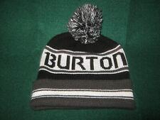 """BURTON Pom BEANIE (One Size) Adult BLACK & GRAY """"Clean"""""""
