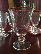 New listing Rare Williams Sonoma Raj Set/4 Goblets With Gold Rim Discontinued