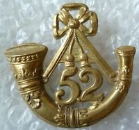 VICTORIAN 52nd Oxfordshire Regiment of Foot Glengarry Badge All BRASS Genuine