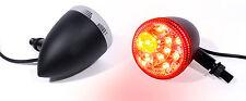 LED Rear Light Brake Indicator Black Motorcycle Universal Custom Harley Honda