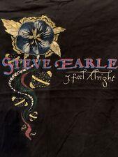 Vintage 90s Steve Earle I Feel Alright Tour 1996 Concert T-Shirt Vtg