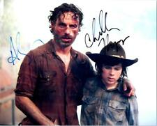 Chandler Riggs Andrew Lincoln Signed 8x10 Picture Autographed Photo with COA
