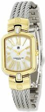 Charles Hubert IP-plated Stainless Steel Wire Bangle MOP Dial Watch