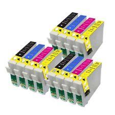 12 Cartucce d'Inchiostro per Epson R240 R245 RX420 RX425 RX520 E551-4 NON-OEM