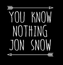 Game Of Thrones You Know Nothing Jon Snow Arrow Funny T-Shirt Tee