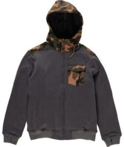 Billabong Men's Cairn Snowboard Hoody / Jacket First Layer, Grey/Camo L, NWT
