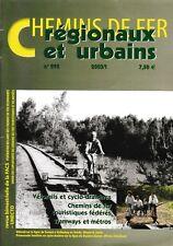 CHEMINS de FER RÉGIONAUX et URBAINS - N° 295 (2003/1) (FACS - CFRU) (Train)
