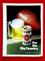 Lone Star Beer  For The Big Country Original 1976 Print Ad 8.5 x 11""