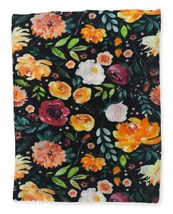 "NEW Earthy 100% Organic Cotton Muslin Baby Girl Blanket - 48""x48"" 1 Layer Evelyn"