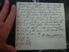 2 old letters receipts from the 1790s George Iii times Georgian era
