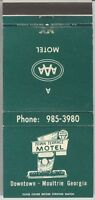Town Terrace Motel Moultrie Georgia Matchbook Cover