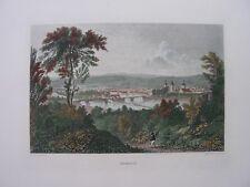 HAMELN  STAHLSTICH / BATTY 1880, koloriert