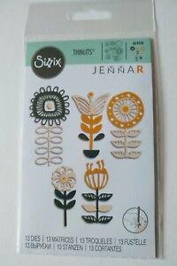 Sizzix Thinlits Die Set - Stackable Florals -  664458 - 13 Dies - Flowers, Craft