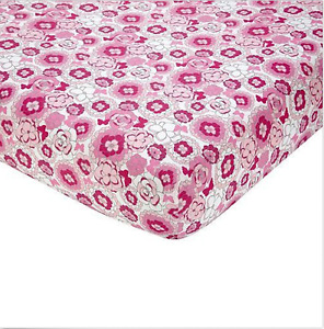 Butterfly Bouquet Fitted Crib Sheet by NoJo