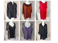 LOT of 6 Womens Plus Size 3X Tops Blouses Avenue Liz Me Casual Work  See Photos