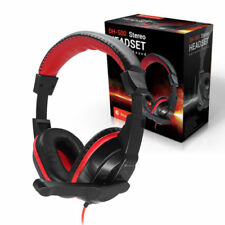 Dynamode DH-500 Phono DJ/Gaming Stereo Computer Headphones with Microphone