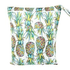 Wet Dry Bag Baby Cloth Diaper Nappy Bag Double Zippers Pocket Pineapple