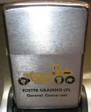 Zippo Lighter 1973  Foster Grading Co General Contractors Grader Truck