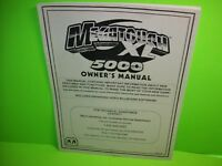 MEGATOUCH XL 5000 Original Video Arcade Game Service Repair Owners Manual