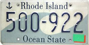 Rhode Island License Plate, Original Plaque D'Immatriculation USA 500-922