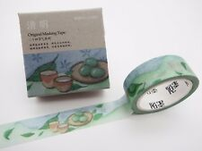 Japanese tea & snack washi tape! Mochi, matcha green tea leaves planner tape