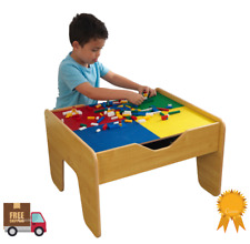 2 in 1 LEGO Building Table & Train Set Fun Activity Kids Toddler Play Board Game